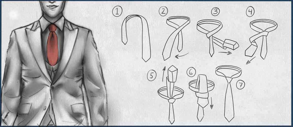 4 -n-hand krawattenknoten