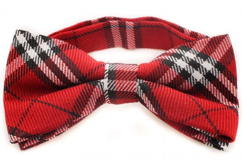Snygg röd fluga i bomull hos Neckwear.se. Flugor och slipsar på nätet.