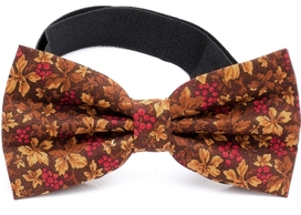 Bow Tie Cotton Collection Brown Flowers