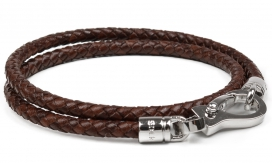 Armband Unisex Two Rows | Brown