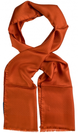 Microdot Silk Scarf | Orange