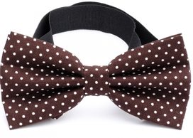 Bow Tie Cotton Collection Dk.Brown Dots