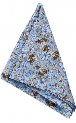 Näsduk Floral | Light Blue Brown