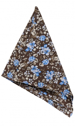 Näsduk Floral | Brown Blue