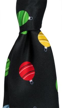 Svart slips med julmotiv från Neckwear 98b28509e4