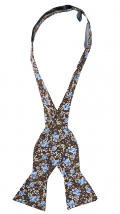 Oknuten Fluga Floral | Brown Blue