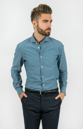 Denim Skjorta | Indigo | Slim