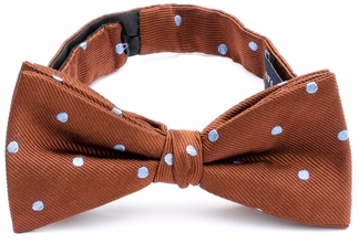 Bow Tie Dots Brown 33408-500