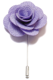 Lapel Flower Pin - Ljuslila