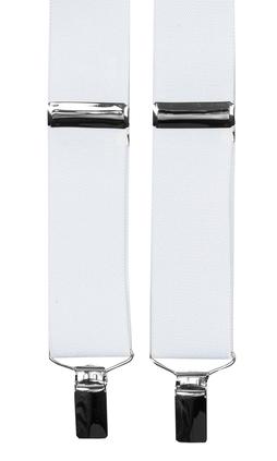 Vita extra långa hängslen från Neckwear 0b8b6f36ff