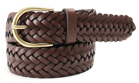 Boomerang Belt Woven Brown