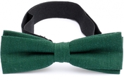Slim Bow Tie Cotton Collection Forest Green