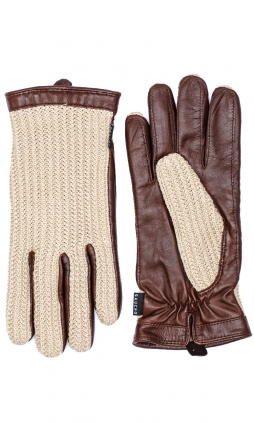 Milland Glove Crochet - Tan/Chocolate