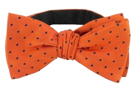 Self Tie Dots Orange/Navy