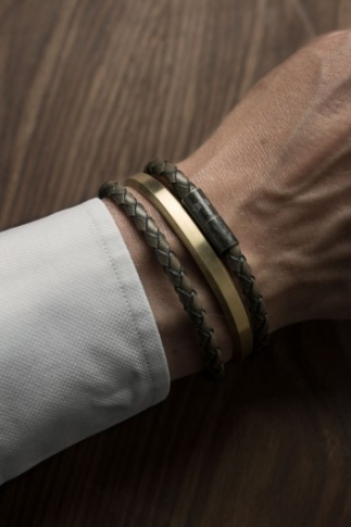 Bangle Armband | Matt Guld