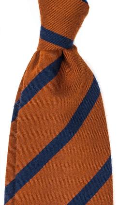 Orange herrslips med ränder från Neckwear 7ca56a1641