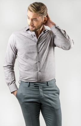 Skjorta Slim Fit Soft | Sand Brown