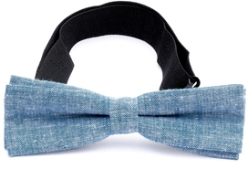 Slim Bow Tie Cotton Collection Denim Blue