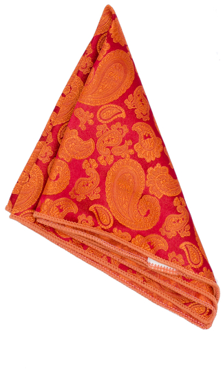 Näsduk - Jacquard Orange