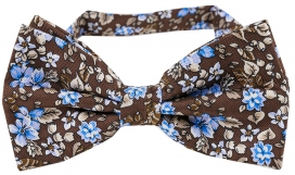 Fluga Floral | Brown Blue