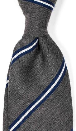 Handsydd herrslips i grått från Neckwear 499f86f36c
