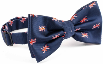 Union jack flag bow tie