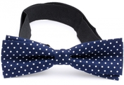 Slim Bow Tie Cotton Collection Navy Dots