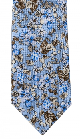Slips Floral 6 cm | Light Blue White