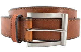 Leather Belt Men Classic Brown