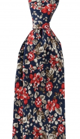 Slips Floral 6 cm | Navy Red