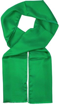 Prickig scarf i grönt med vita prickar e0292e3683880