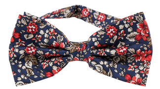 Fluga Floral | Navy Red