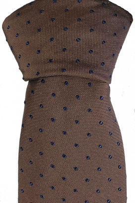 Tie Dots Brown/Navy