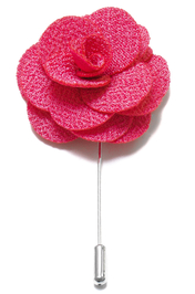 Lapel Flower Pin - Rosa Korall