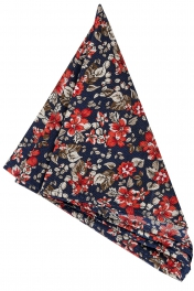 Näsduk Floral | Navy Red