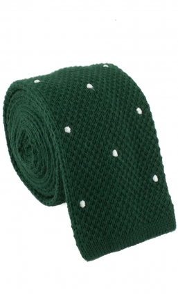 Knitted Dots Green/White