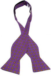 Como Paisley Purple Self Tie