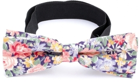 Slim Bow Tie Cotton Collection Blue Flowers