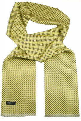 Sidenscarf Yellow Small Paisley