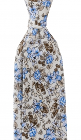 Slips Floral 6 cm | White Blue