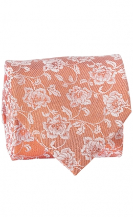 Tie Flowers - Spring Orange